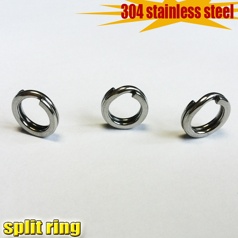 Fishing Pure 304 Stainless Steel Split Rings For Blank Lures Crankbait Hard Bait 50pcs/lot Attention To The Large Size Number