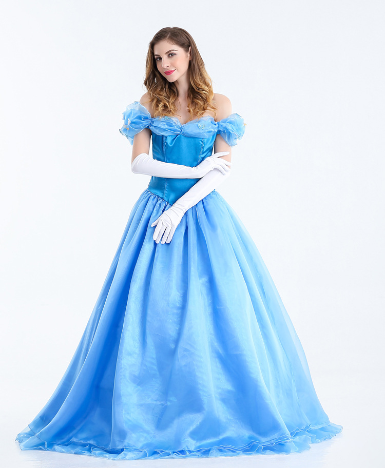 cendrillon costume adulte princesse cendrillon robe halloween costumes pour femmes fantasy. Black Bedroom Furniture Sets. Home Design Ideas