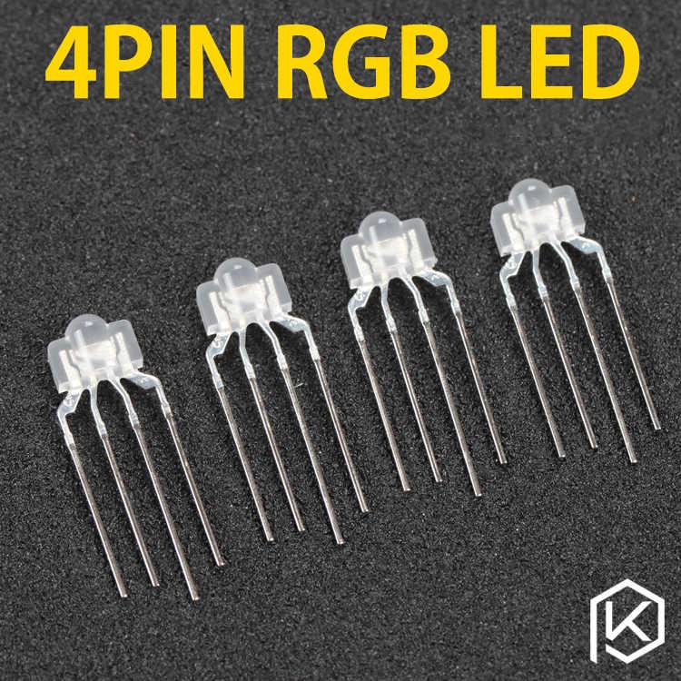 4pin rgb leds منتشر rgb led للوحة المفاتيح الميكانيكية مثل keycool 87 104 108 71 rgb ضوء