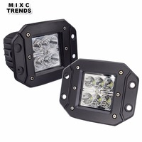 2Pcs 18W LED Work Light Flush Mount 12V 24V Front Rear Fog Lights 4X4 Offroad Trailer