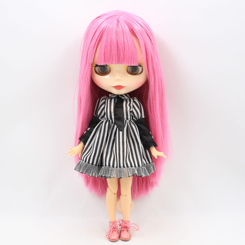 ICY Nude Factory Blyth Doll Series No 260BL2277 Pink hair white skin Joint body Neo