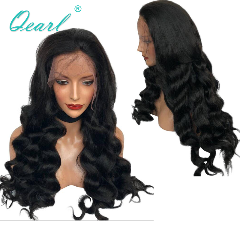 24 26 28 30 32 Human Hair Lace Front Wig Loose Wave Longest Preplucked Wigs Thick