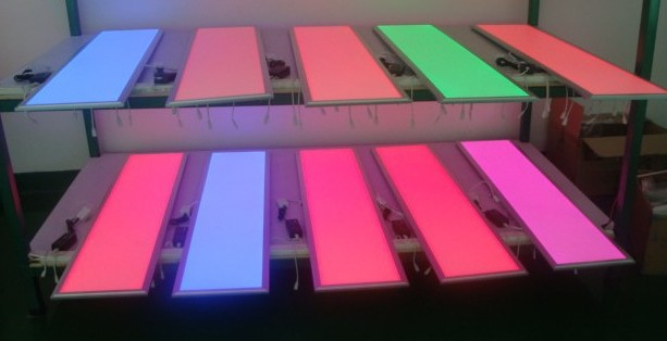 Free Shipping 300x1200mm 40w RGB led panel CE ROHS multicolor colour changing flat 1200*300 RGB led new ceiling panel light