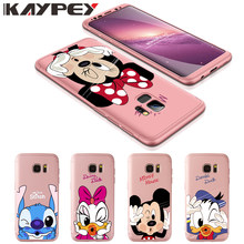 360 Full Body Protection for Samsung Galaxy S8 S9 plus S6 S7 Edge Mickey Minnie back cover for J3 J5 J7 2017 J7Prime Note 8 9 A8(China)