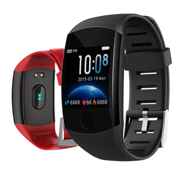 Q11 Smart Watch Waterproof Big Touch Screen OLED Message Heart Rate Time Smart band Fitness Activity Tracker Bracelet Wristband 2