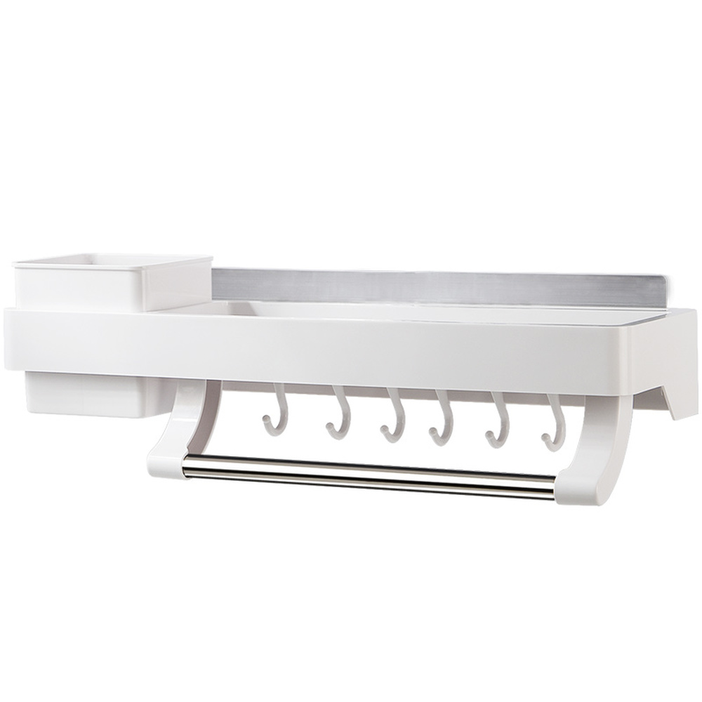 Non-porous multi-function wall-mounted kitchen rack storage rack seasoning rack kitchen knife holder wx8110959