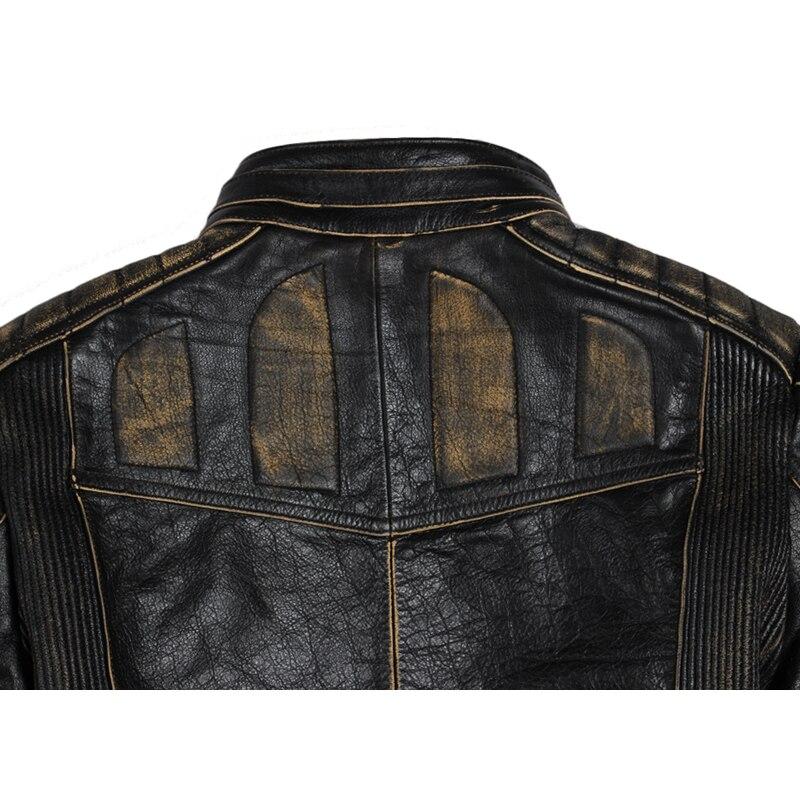 MAPLESTEED Vintage Motorcycle Jacket Men Leather Jacket 100 Cowhide Genuine Leather Jackets Mens Biker Coat Moto MAPLESTEED Vintage Motorcycle Jacket Men Leather Jacket 100% Cowhide Genuine Leather Jackets Mens Biker Coat Moto Jacket 5XL 090