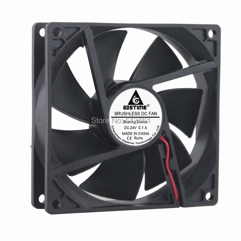 Gdstime DC 24V 92MM 9225S 92x92x25mm 2Pin CPU Cooler Cooling Fan chinese mandarin textbook standard course hsk 3 with cd chinese level examination recommended books