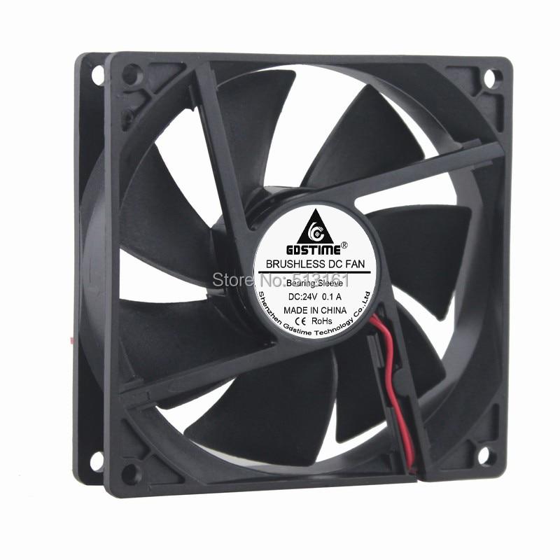Gdstime DC 24V 92MM 9225S 92x92x25mm 2Pin CPU Cooler Cooling Fan promotion hot 92mm x 25mm 24v 2pin sleeve bearing cooling fan for pc case cpu cooler