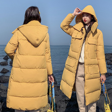 S-3XL autumn winter Women Plus size Fashion cotton Down jacket hoodie long Parkas warm Jackets Female coat clothes