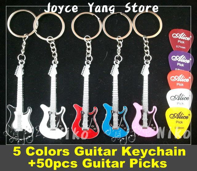 (5 צבעים) + 50pcs מבחר גיטרה חשמלית - כלי נגינה