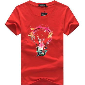 Καλοκαιρινο βαμβακερο 3d τυπωμενο σχεδιο t-shirt.