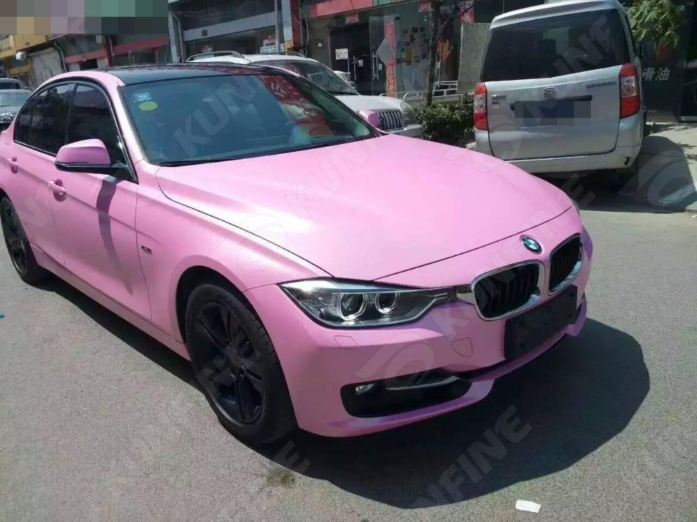 Car Styling Wrap Matt Glitter Pink Car Vinyl film Body Sticker Car Wrap With Air Free Bubble For Vehiche 1.52*20M/Roll