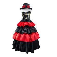 Anime de One Piece Cosplay Perona Ghost Princess 2 Años Más Tarde ver gothic dress del vestido de bola del partido de halloween cosplay traje rojo dress