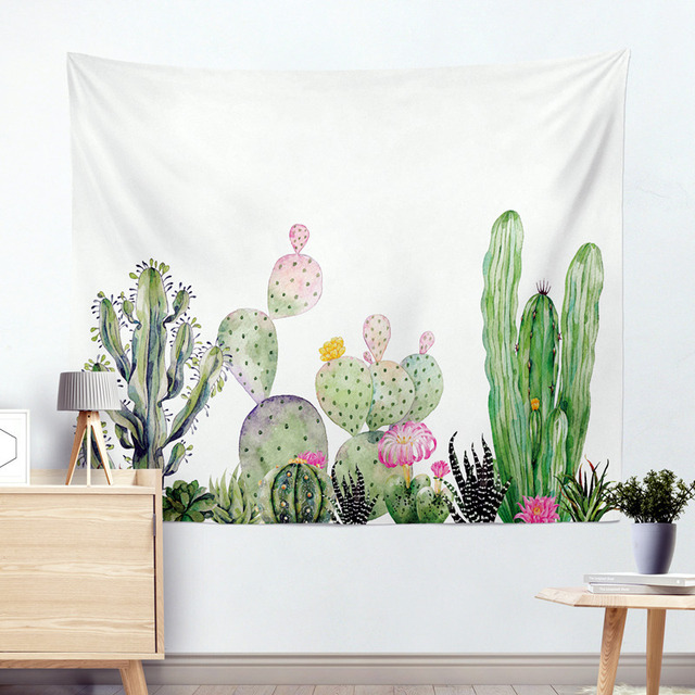 Wall Hanging Cactus Tapestry Cotton Bohemian 200*150cm Cover Beach Towel Throw Blanket Picnic Yoga Mat Home Decoration Textiles 5