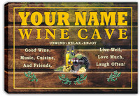 scqw1-tm Wine Cave Bar Beer Name Personalized Stretched Canvas Print Decor Sign Wholesale Dropshipping