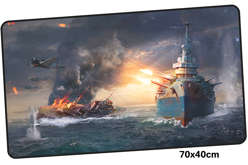 warship mousepad gamer 700x400X3MM gaming mouse pad large Boy Gift notebook pc accessories laptop padmouse ergonomic mat