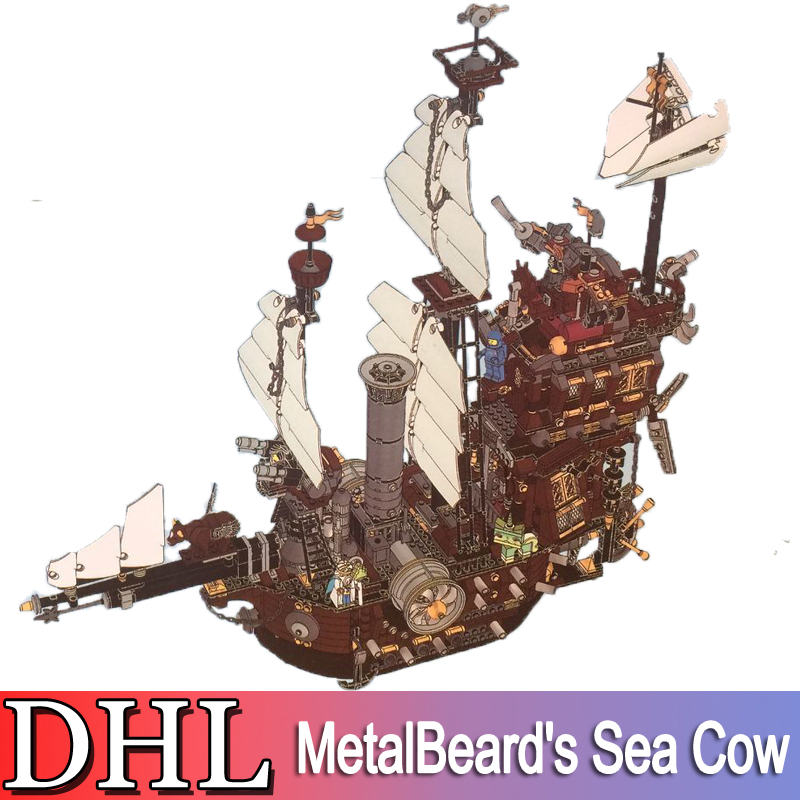 2018 New 2791Pcs Pirate Ship Series Model Building Kits Blocks Bricks MetalBeard's Sea Cow Toys For Children Compatible 70180 2017 new lepine pirate ship imperial warships model building kits block briks toys gift 1717pcs compatible lele 10210