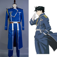 Fullmetal Alchemist Cosplay Costume Colonel Roy Mustang Military Uniform Cosplay Costume Adult Men Full Sets