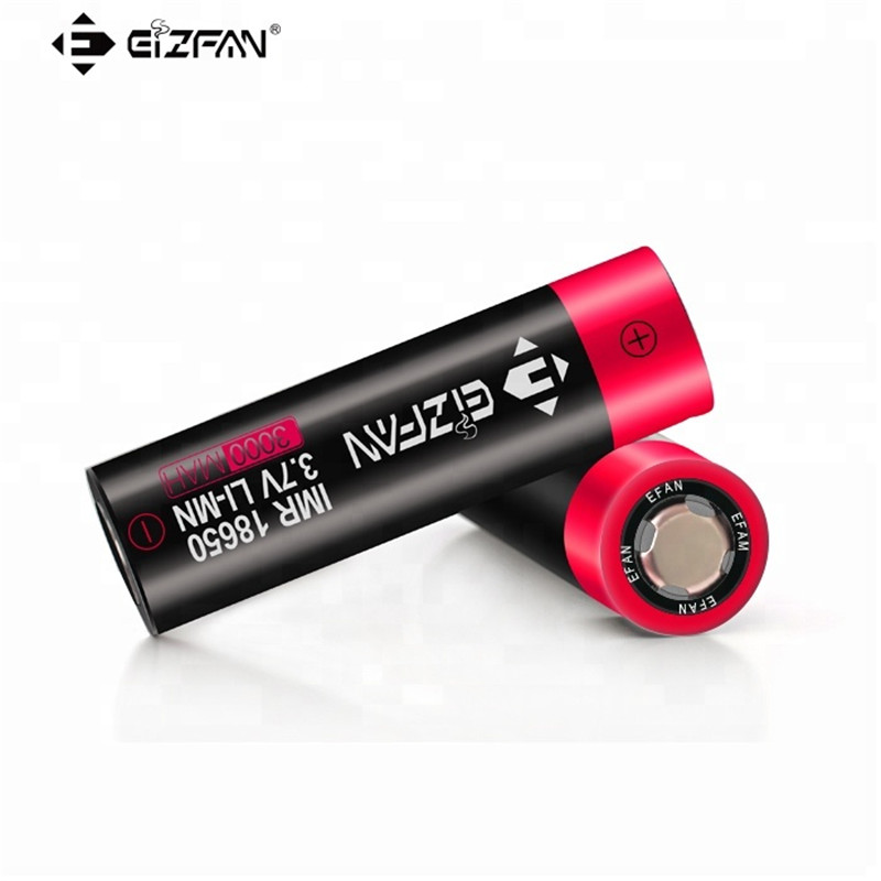 EIZFAN 18650 Battery 60A 3000mAh EFAN Vape Battery for SMOK Eleaf Vaporesso  Wismec Tesla Voopoo Drag Ijoy Kangertech Vape Mod E3