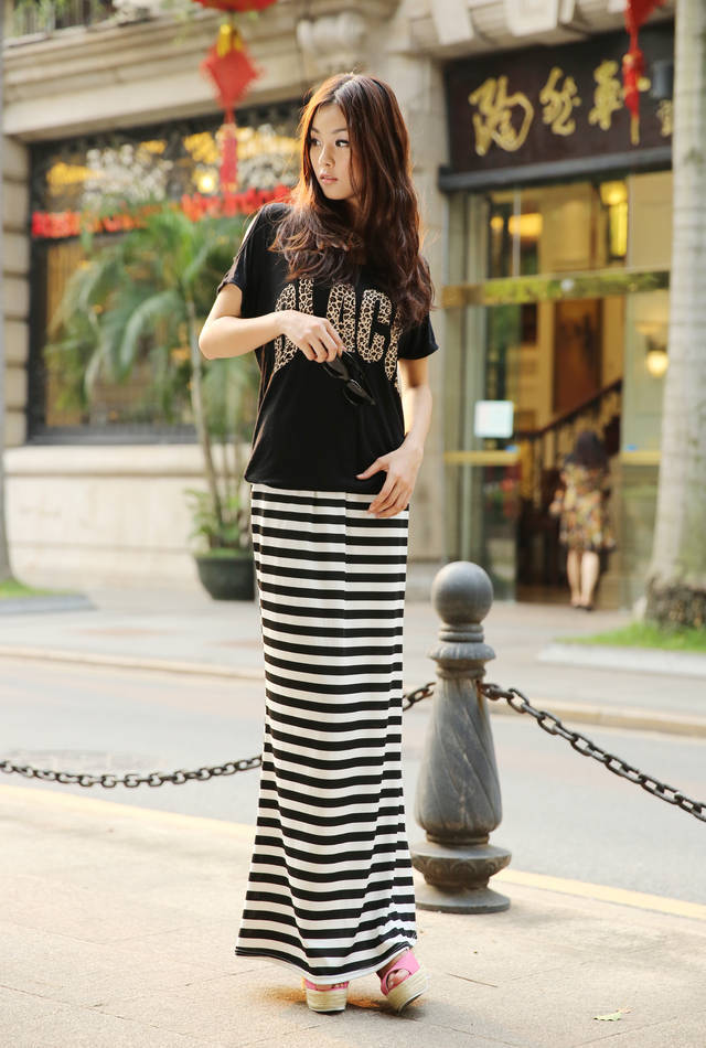 Long straight jersey skirt – Modern skirts blog for you