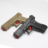 2 PCS Assembled Guns G17 Manual Loading With Soft Crystal Bullet Paintball Water Ball Pistol Toy