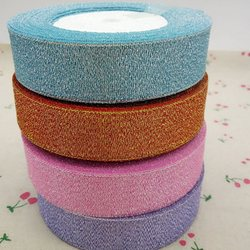 HL 4 rolls 25mm width glitter ribbon gift packing belt wedding party Christmas embellishment  sewing accessories A166