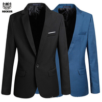 Casual Blazer Men Fashion Plus Size Business Slim Fit Jacket Suits Masculine Blazer Coat Button Suit