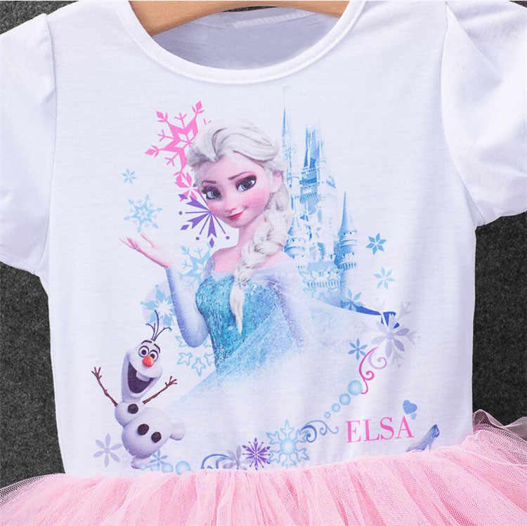 Детский костюм принцессы Эльзы из мультфильма «Холодное сердце», вечерние костюмы принцессы Анны для косплея, 2018