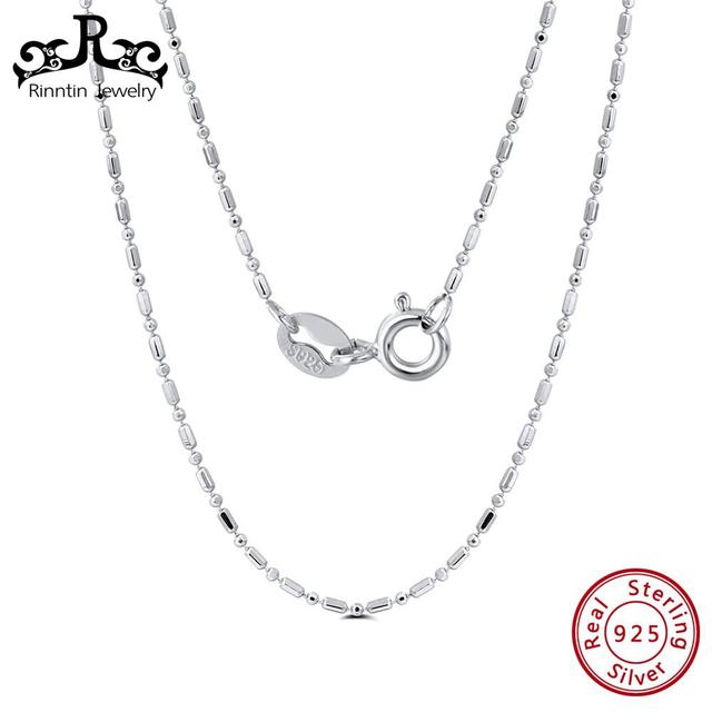 Rinntin 925 Sterling Silver 45CM Slim Thin Necklace Simple Fashionable Korean Clavicular Chain Female Jewelry TSC23
