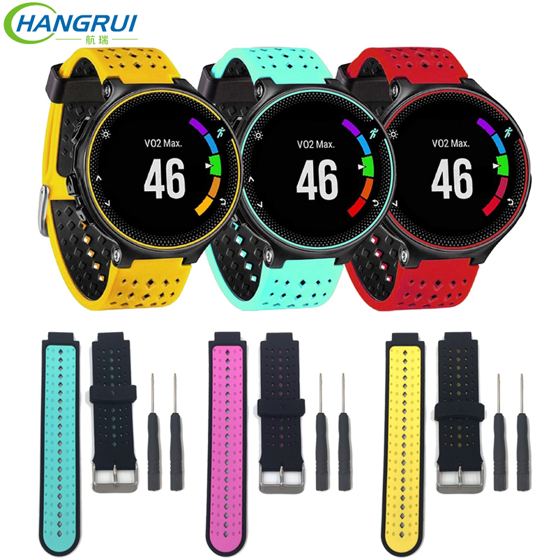 Hangrui Silicone Strap For Garmin Forerunner 230/235/220/620/735 Smart Watch Replacement Wrist Strap Sport Breathable Wristband