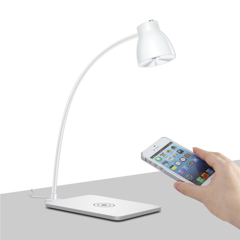 ugpine qi wireless charger led table lamp wireless charging pad light unique for samsung galaxy. Black Bedroom Furniture Sets. Home Design Ideas