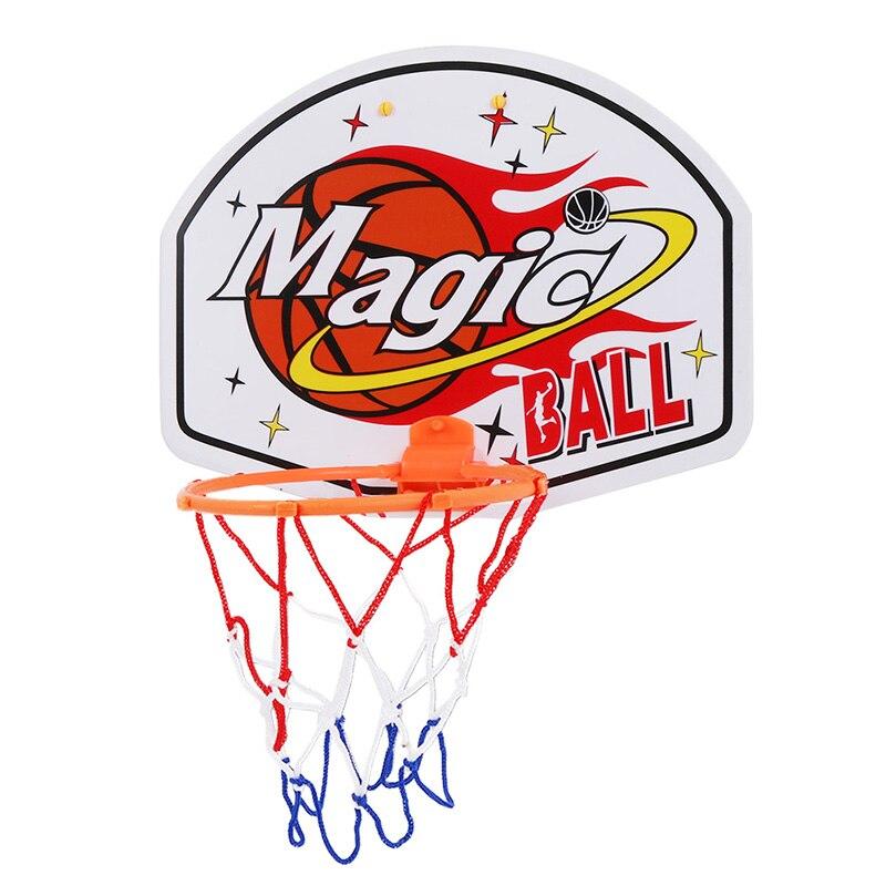 Kids Basketball Mini Backboard Sports Basketball Training Hoop Magic Shoot Indoor Plastic Hoop Set Hanging