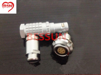 Lemo 0B 5pin connector plug , FHG.0B.305.CLAD, 90 degree elbow plug,plugMedical connector plug 5 pin,