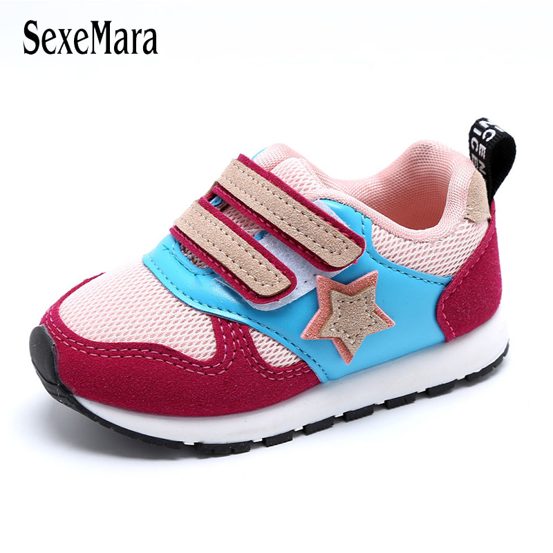2018 New Autumn Little Baby Shoes Newborn Anti-kick Toe Toddler Shoes Girl Breathable Sports Sneakers for a Boy Walkers B03081