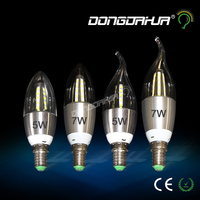New arrival c35 5w 7w AC220v led cob retro Vintage filament light lamp warm pure white candle lamps dimmable lamp lights led