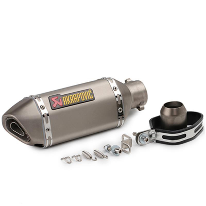 Universal 36mm 51mm Motorcycle Motocross Scooter Akrapovic Exhaust Pipe Muffler for z800 cbr600 cb750 YZF R1 R6 With DB Killer
