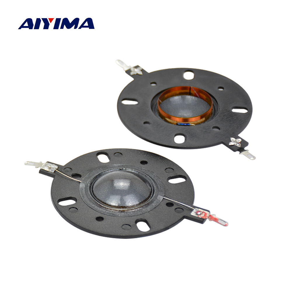 AIYIMA 2Pcs Audio Acrive Speakers 25 Core Treble Voice Coil Round Dome Speaker Repair Parts DIY For Home Theater Accessories