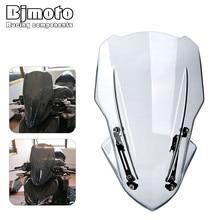 Bjmoto motosiklet motokros temizle Z 900 ekran cam ön cam hava deflektör braketi Kawasaki Z900 2017 2018 2019