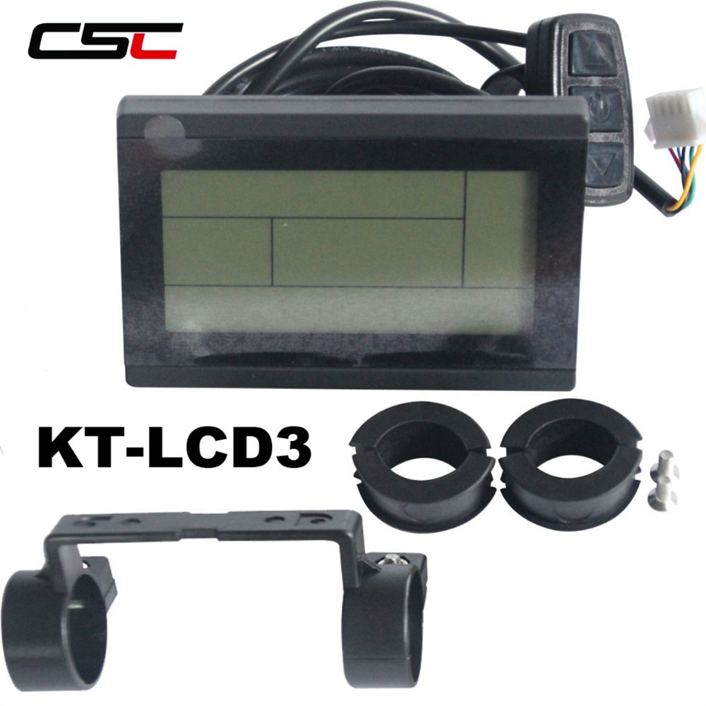 Universal Lcd Controller 24V 36V 48V Intelligent KT LCD3 Electric Bicycle Display Ebike LCD Bike Panel