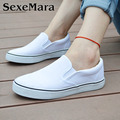 2017 Spring Women Loafers Flats Canvas Solid Casual Comfortable Round Toe Slip On Shoes VJ033