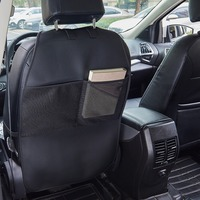 Car Seat Back Protector PU Leather Car Storage Bag Anti Kick Mat Case For Child Baby