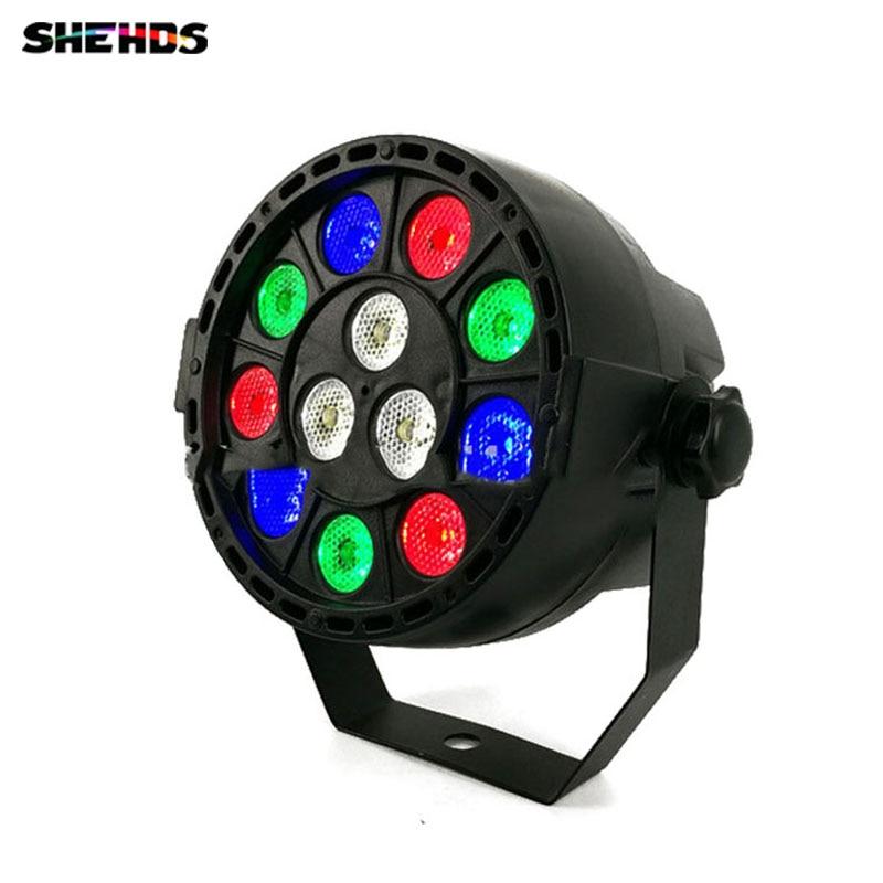 SHEHDS Hot  6pcs LED Par 12x3W RGBW LED Stage Light Par Light With DMX512 For Disco DJ Projector Machine Party Decoration Hotel