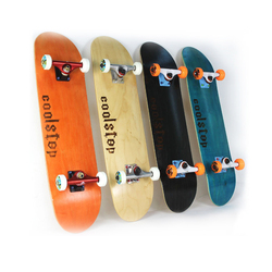 لوح تزلج خشبي احترافي طويل المستوى بأربعة عجلات سكوتر بطرازات قياسية لوح طويل من خشب القيقب مقاس 31*8.0 بوصة هزاز مزدوج