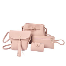 цена на High Quality 4x Women PU Leather Handbag Shoulder Bag Tote Purse Messenger Satchel Crossbody