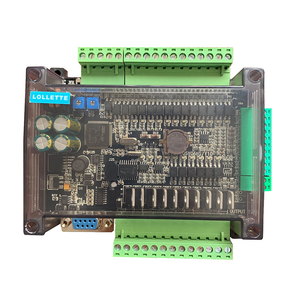 DC24V FX1N FX2N FX3U-24MT PLC Industrial control board 6AD 2DA 14 input 10 transistor output RS485 RTC communications with shell