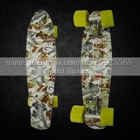 Peny Skateboard Longboard 22 Retro Mini Skate Trucks Deskorolka Professional Fish Skateboard Plastic Complete Tablas De