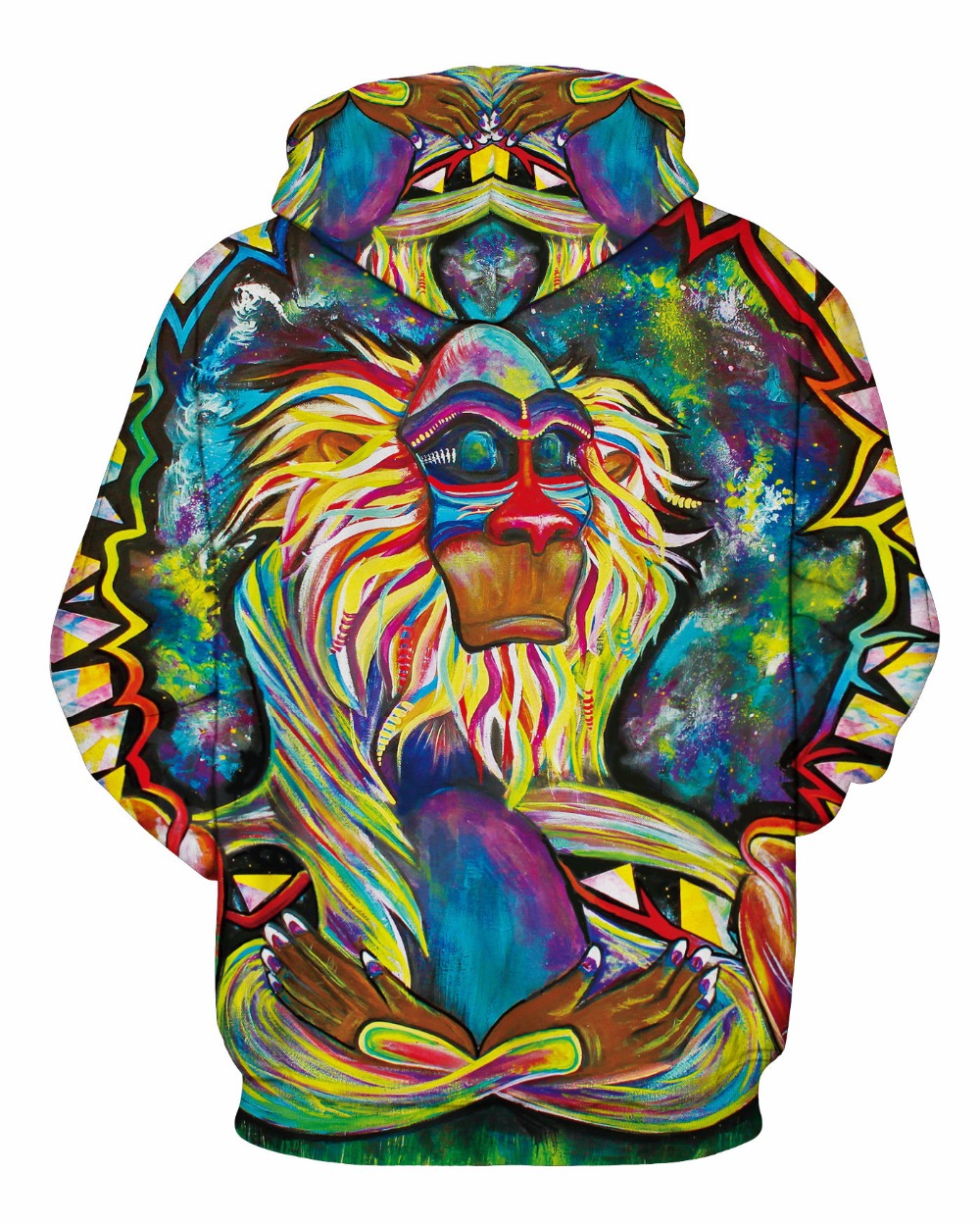 Wolf Printed Hoodies Men 3D Hoodies Brand Sweatshirts Boy Jackets Quality Pullover Fashion Tracksuits Animal Street wear Out Coat 123