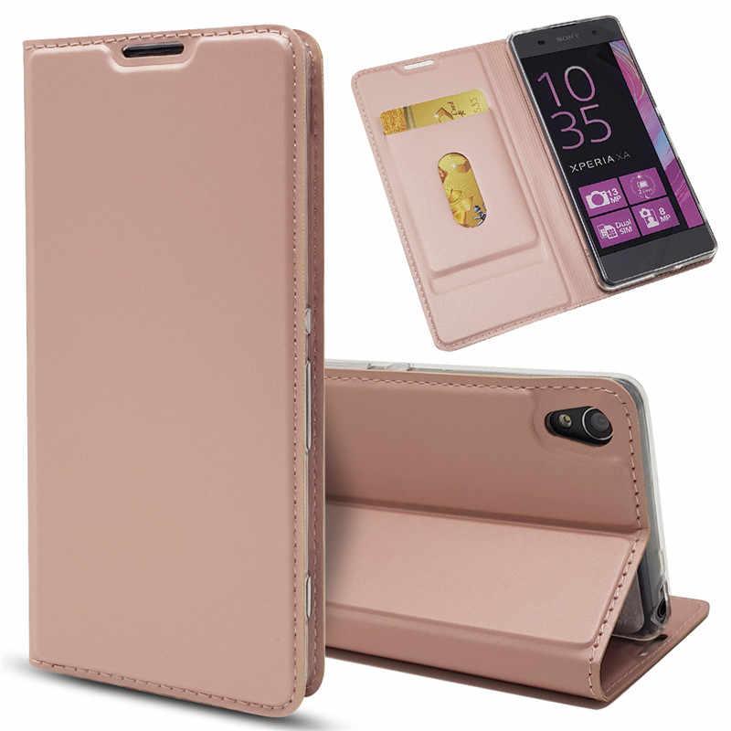 ICovercase Lật Xây Dựng Trong Nam Châm Bao Da Ốp Lưng Cho Sony Xperia Z5 Mini X Nhỏ Gọn XA XP XZ cao Cấp XZS L1 E6 L2 Funda Etui