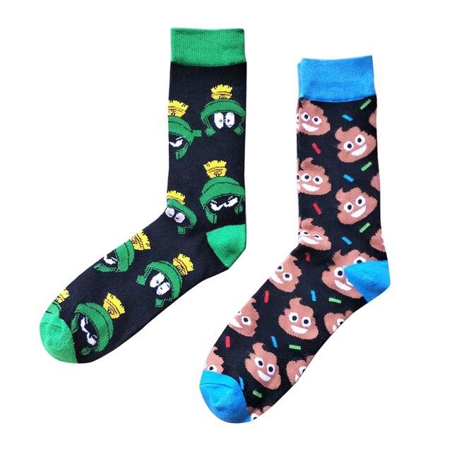 c8cc836ebe49e Homme chaussette personnalité Harajuku chaussettes drôle dessin animé belle  Animal grenouille couleur sort choisir chaussette homme